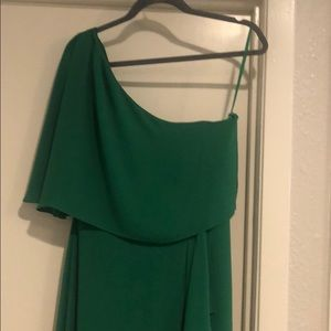 Gorgeous green one shoulder dress